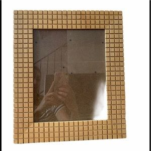Vintage Picture Frame Wood Waffle Great condition